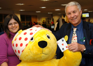 Richard Ballinger children's magic with Pudsey